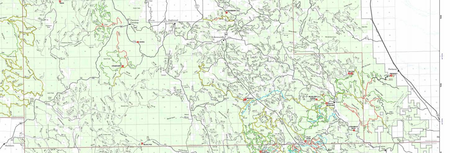 Trail Map Black Hills ATV UTV Motorcycle Trails